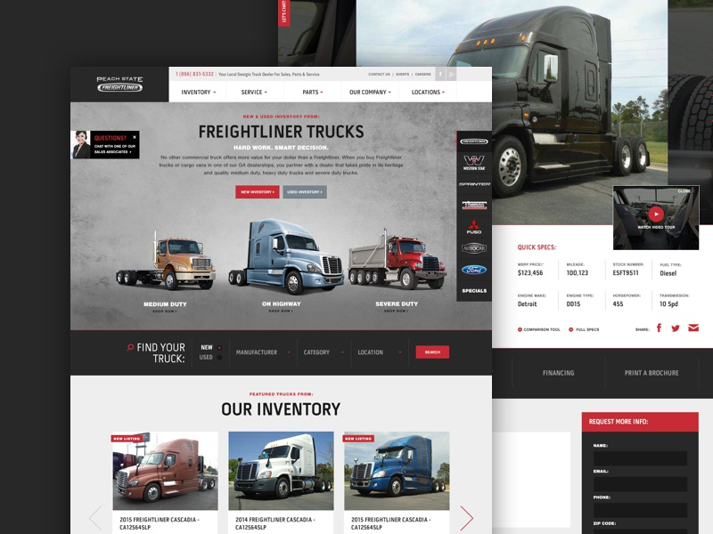 Peach State Freightliner >> Peach State Freightliner By Atypic On Dribbble