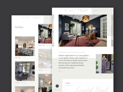 Crystal Nagel Design contact portfolio charlotte elegant simple website ux ui interior design