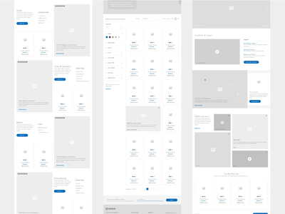 Moen Product Wireframes product website ux ui wireframes wireframe-wednesday web