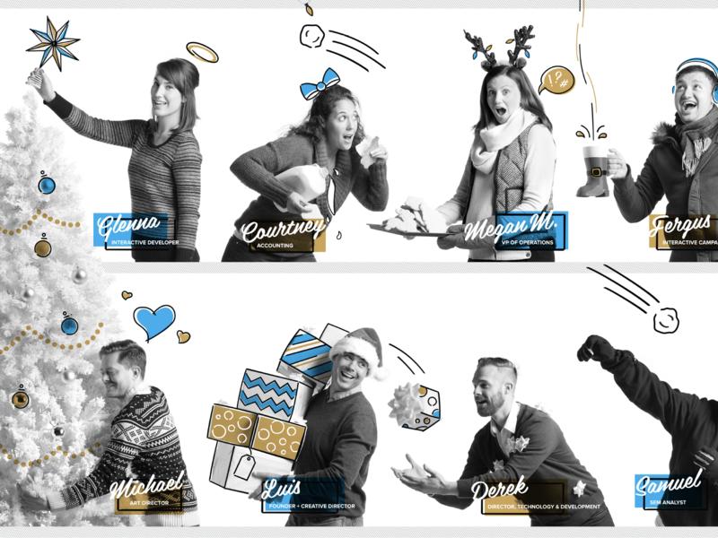 Happy Holidays festive agency holiday christmas merry design vector typography illustration charlotte