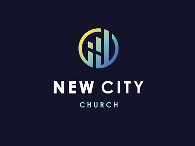 New City Church religion gradient illustration charlotte church logo church branding logo
