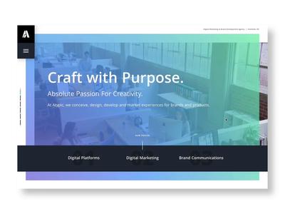 New Site, Same Us agency website scroll animation agency gradient design website ux ui web charlotte