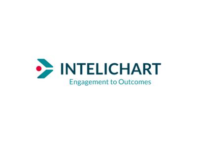 InteliChart® branding logo suite patient bold gradient healthcare health design logo ui web