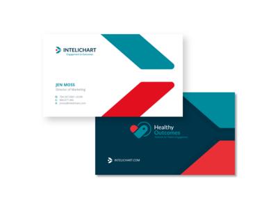 InteliChart® patients portal presentation design business cards bold healthcare health vector logo illustration branding