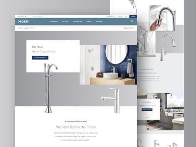 Moen Chrome Finish kitchen chrome interior design home faucet moen e-commerce design product website ux ui web