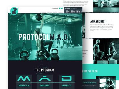 MADabolic layout green splatter grunge program fitness dark ui exercise gym website ux ui charlotte web