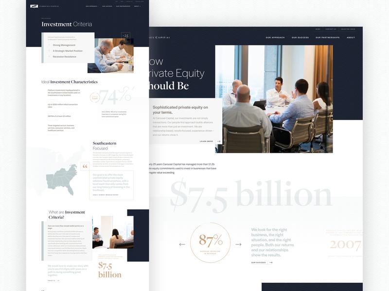 Carousel Capital Website web typography design website charlotte