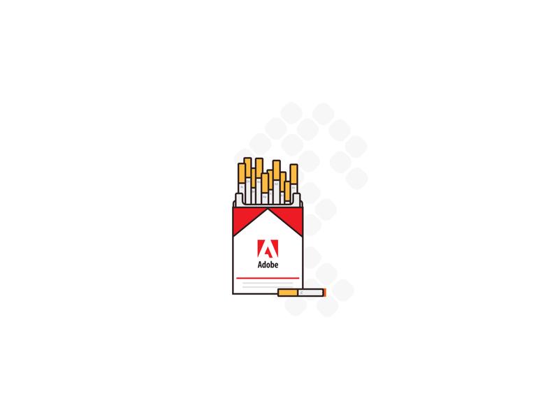 Adobe Cigarette Pack ux vector branding adobe xd uiux design adobe illustrator adobe
