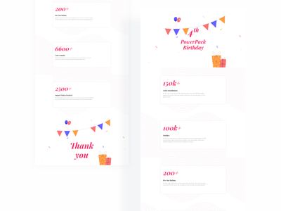 PowerPack's  4th Birthday @helloideabox helloideabox user interface design user interface userinterface adobe xd ui user experience uidesign uiux ui design powerpack beaverbuilder beaveraddons