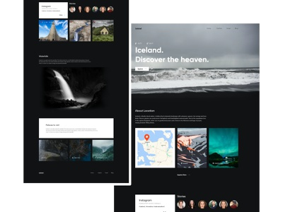 Iceland concept design travel agency travel adobe xd user interface template design templatedesign page design ui design uidesign