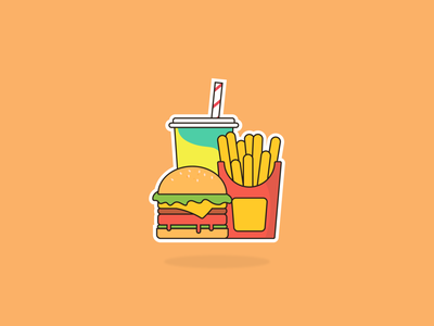 Meal illustration vector illustration vector fries drink burger illusttratopr design uiux illustrattion graphic food