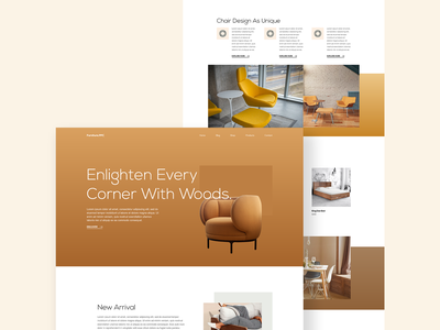 Furniture Landing Page Design web design furniture website web designer user interface design template design elementor templates elementor landing page design website trending design dribbble best shot