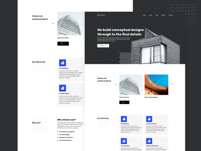 Real Estate Website Landing Page Design wordpress web design minimal website architecture web designer website template website design trending landing design elementor elementor templates dribble best shot trending design