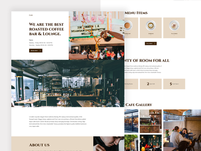 Café Website Landing Page Design web design coffee shop coffee cafe cafe website user interface design wordpress theme elementor templates landing page design template elementor wesbite dribbble best shot trending design