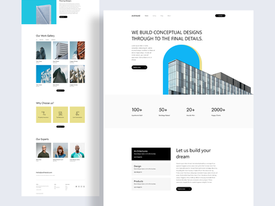 Architecture Website Landing Page Design elementor templates divi template elementor architecture website web design trending design dribbble best shot