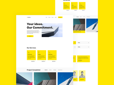Construction Website Template web design wordpress elementor website template uiux user interface design minimal website trending website design template construction trending design dribbble best shot