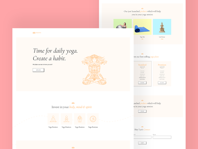 Yoga Class Website Template interface web trending design helloideabox design wordpress theme wordpress template uidesign user interface elementor web design yoga