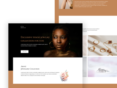 Jewelry Website Template for Elementor mohit panchal website design web design jewellery jewelry shop trending design uidesign ui design user experience jewelery elementor templates wordpress trending best shot uiux