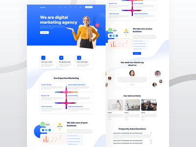 Marketing Agency Elementor Template helloideabox mohit panchal branding ux ui web elementor pro wordpress digital agency landing page ui website design web design