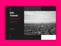 Travel Landing Page UI