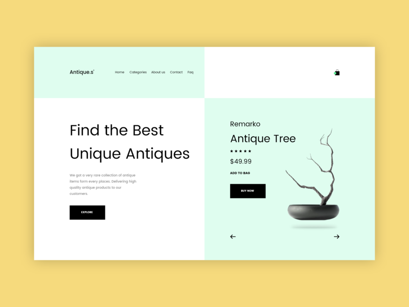 Antiques Website Hero Section landing page design landingpage landing page user experience user interface user interface design userinterface ui design uidesign uiux ui  ux ui design html herosection adobe xd adobe photoshop adobexd website hero section