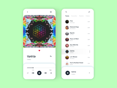Music Player Mobile App UI