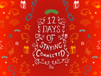 12 Days of Staying Connected wordmark