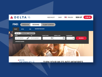 #003 Daily UI - Landing Page (Delta Redesign)