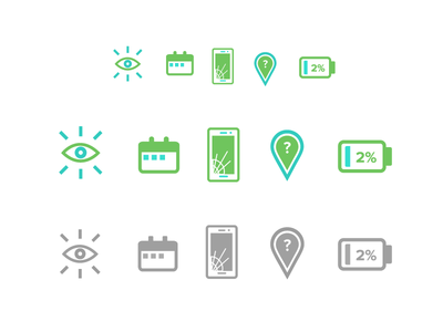 Draft Icons v3 Scale + Contrast