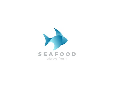 Fish Logo abstract symbol market shop store restaurant food gradient design fishing seafood abstract logo fish