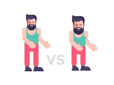 Character test illustration test style design vector flat man