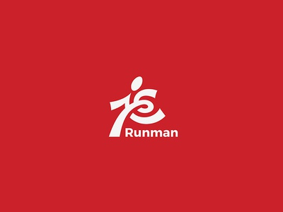 Runner Logo athletics people active gym fitness sport athlete business abstract delivery man running runner run logo