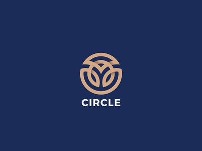 Circle Logo Abstract art style line outline linear logotype jewelry fashion design luxury abstract logo circle