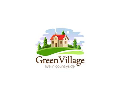 village house logo real estate by sentavio dribbble
