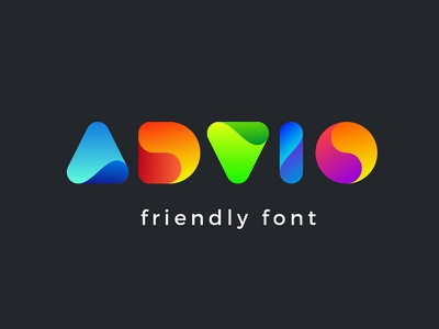 Advio friendly font kids funny fun entertainment typography friendly creative ttf design typeface type font