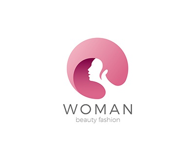 Woman Logo for Beauty Hair Salon style space negative fashion beauty salon logotype hairdressing girl logo hair woman