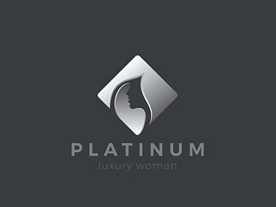 Woman Logo style space negative fashion beauty salon logotype hairdressing girl logo hair woman