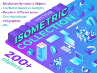 Isometric Flat Vector Collection