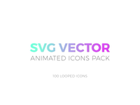SVG Animated 100 Icons Linear style