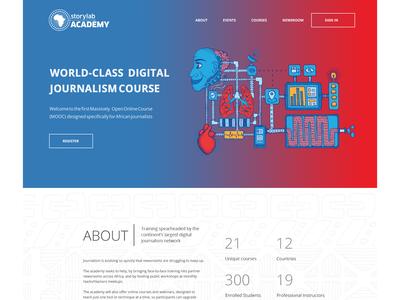 academy.africa homepage design