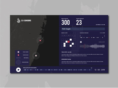 Sea Sensors Map Dahsboard exploration