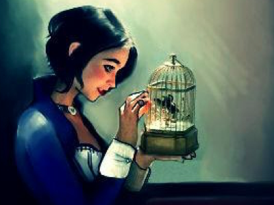 Birdcage multimedia rockwell bioshock illustration videogames