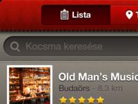 Pub search iPhone app