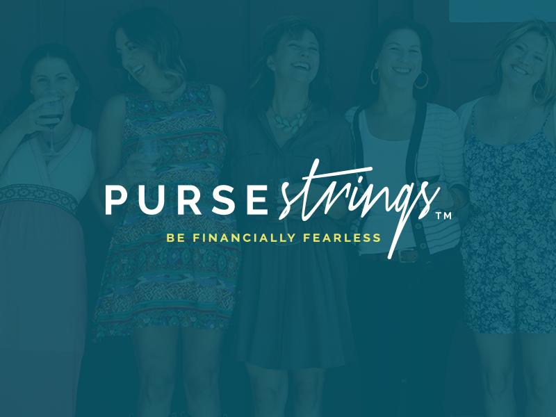 Purse Strings Brand purse female identity financial feminine logo