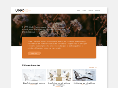 UPPO Website interface digital ui ux dentists health design web