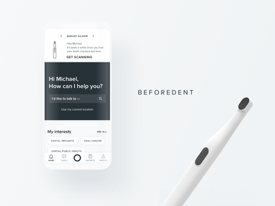Beforedent- Dental telemedicine app uxui telemedicine ui medical design medical app