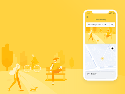 Transit App _BVG interaction ux ui transit ios interface bvg berlin animation