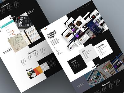 Portfolio - Scrapped Designs 30 portfolio web ui clean white thumbnail grid home home page full bleed black