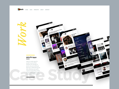 Portfolio - Scrapped Designs 31 black full bleed home page home grid thumbnail white clean ui web portfolio