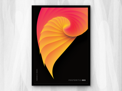 Posteritis 003 art abstract daily affinity designer series colorful vibrant gradient shapes repetition posteritis poster